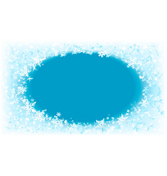 winter frosted window vector image