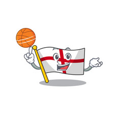 With basketball flag england isolated in the vector