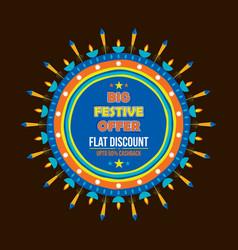 diwali sale banner design vector image