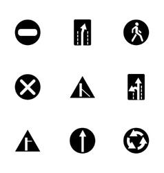 road element icon set vector image vector image