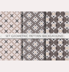 set geometric pattern on colour background vector image vector image