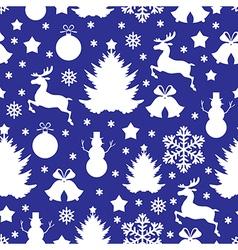 Christmas pattern blue vector