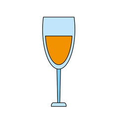 color image cartoon glass cup with wine vector image vector image