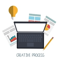 Creative process graphic design them vector image