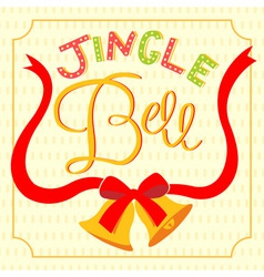 jingle bell card vector image vector image