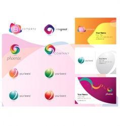logo and identity set vector image vector image