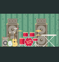 musical instruments flat vector image vector image