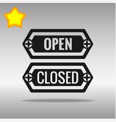 open and closed black icon button logo symbol vector image