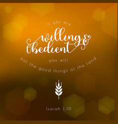 Bible quote typographic for thanksgiving day vector