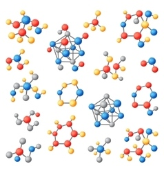 Molecular structure chemical atoms set vector image