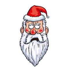 Santa Claus Thoughtful Head vector image