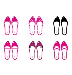 Beautiful lady shoes isolated on white - pink vector image vector image