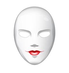 Naked white mask vector
