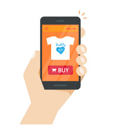 online store on mobile phone internet shop vector image vector image