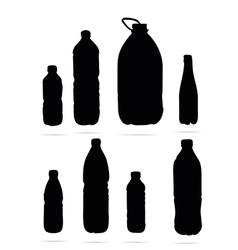 plastic bottles symbols vector image vector image