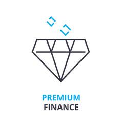 premium finance concept outline icon linear vector image vector image