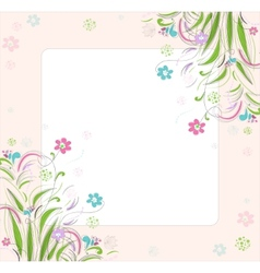 Romantic scrapbooking for invitation greeting vector image