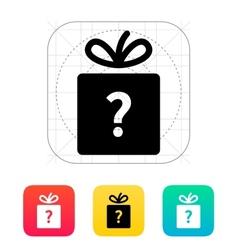 Secret gift icon vector image vector image