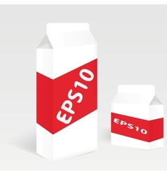 Two Milk Carton Packages Blank White Version vector image vector image