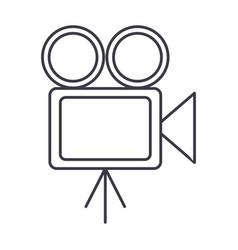 video cinema retro camera vector image