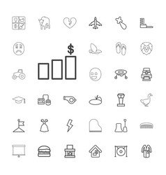 33 design icons vector