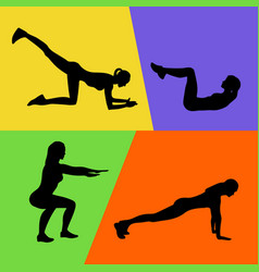 Abstract of fitness exercises vector