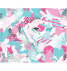 abstract seamless pattern with chaotic lines vector image