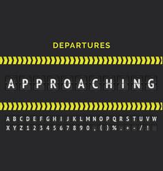 Airport flight scoreboard banner vector