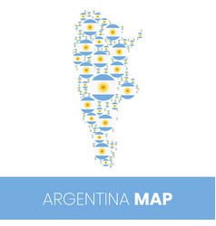 Argentina map filled with flag shaped circles vector