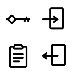 authentication icons vector image