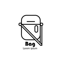Bag icon or logo template vector