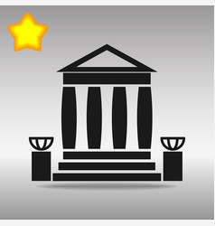 bank building black icon button logo symbol vector image