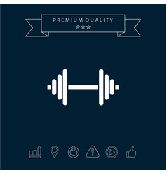 barbell symbol icon vector image