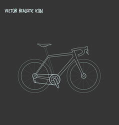 bike icon line element of vector image