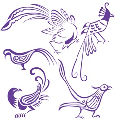 bird tattoo vector image
