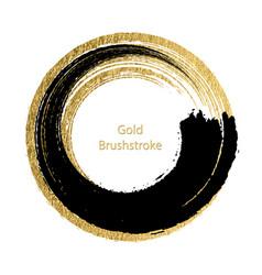 Black and gold brushstroke design templates vector