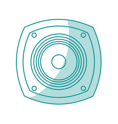 Blue shading silhouette of loudspeaker vector