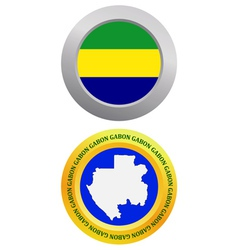 button as a symbol GABON vector image