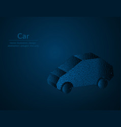 car symbol low poly transport polygonal icon vector image