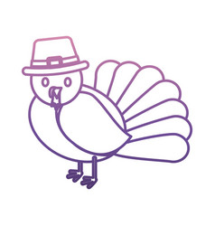 cartoon turkey icon vector image