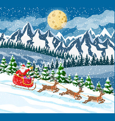 christmas new year winter landscape vector image