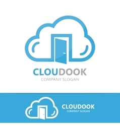 Cloud and door logo concept vector