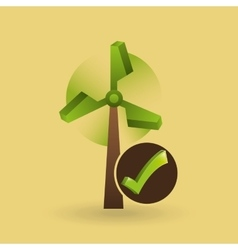 Concept ecological icon wind power vector