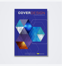 cover template brochure layout book cover vector image