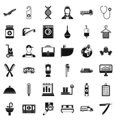 Craft tool icons set simple style vector