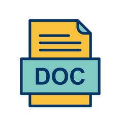 Doc file document icon vector