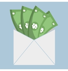 Dollar bank money envelope icon vector