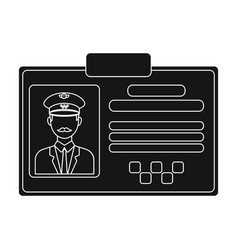 driver document taxiplastik card taxi driver with vector image