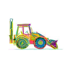 escavator sketch for your design vector image