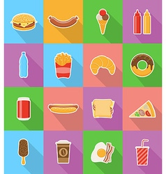Fast food flat icons 18 vector